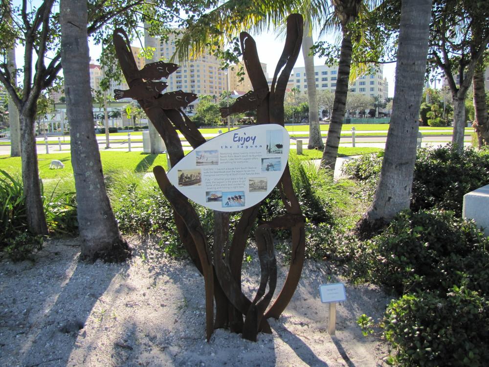 West Palm Beach Waterfront Interpretive Signage Lagoon Sign.JPG