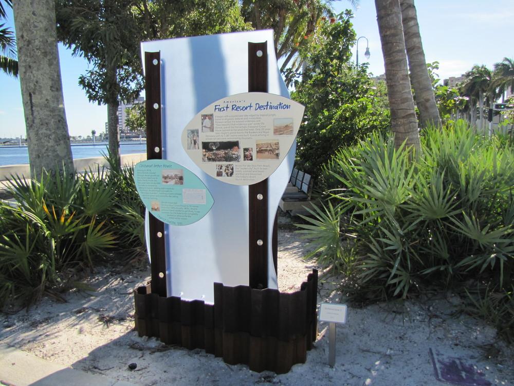 West Palm Beach Waterfront Interpretive Signage First Resort Destination Sign.JPG