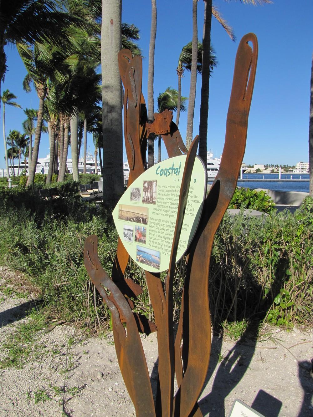 West Palm Beach Waterfront Interpretive Signage Seagrass Corten Steel.JPG