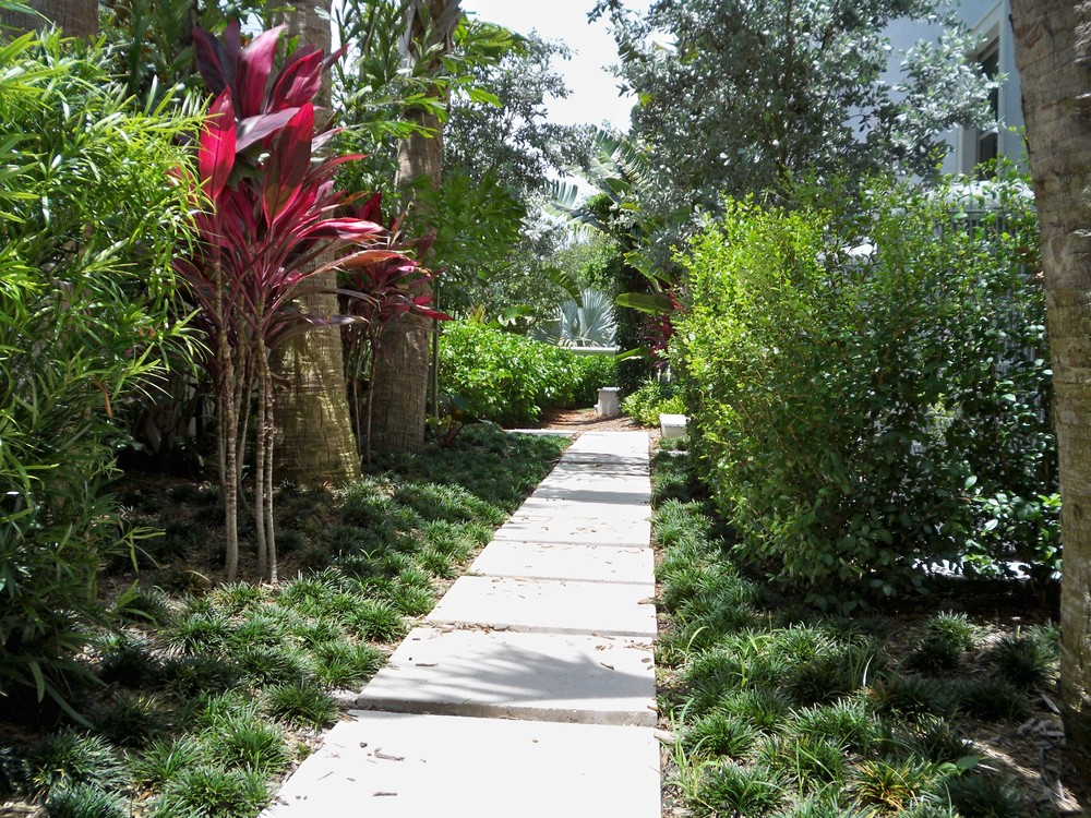 Jupiter French Chateau Residence Private Landscape Path.jpg
