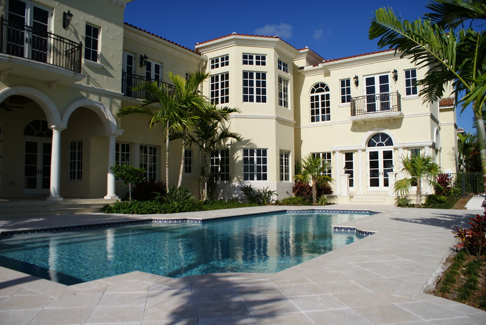 Jupiter Mediterranean Residence Travertine Pool Deck.JPG