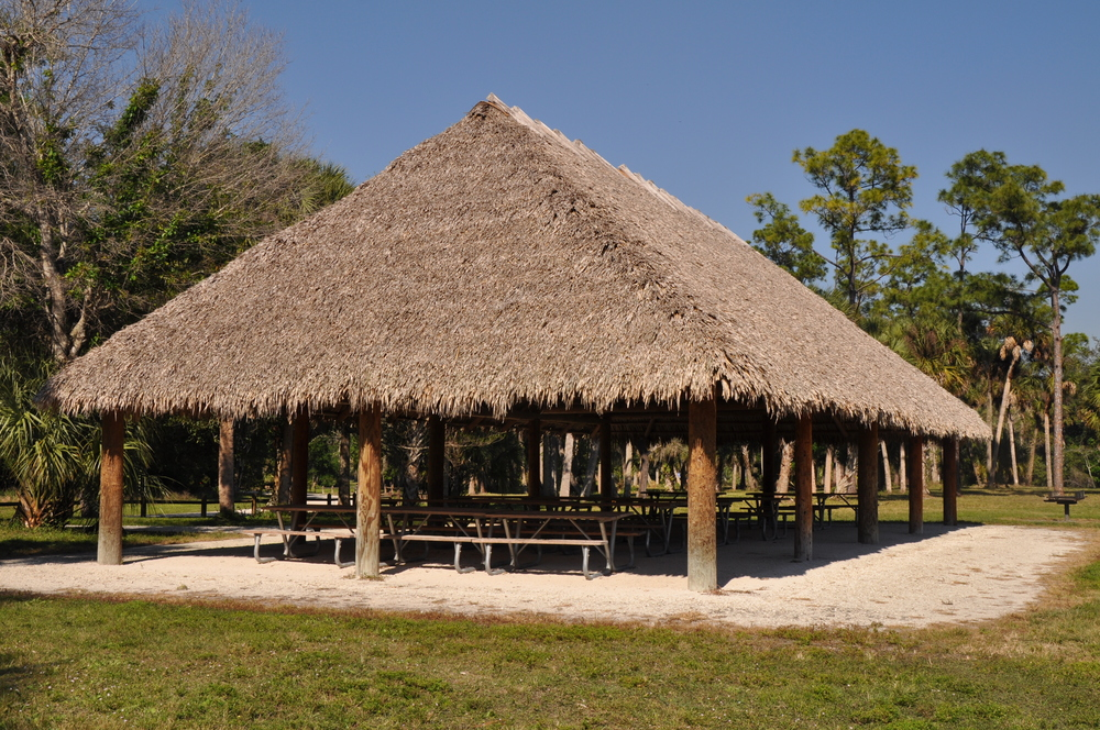 Riverbend Park Palm Beach County Large Chiki Hut.JPG