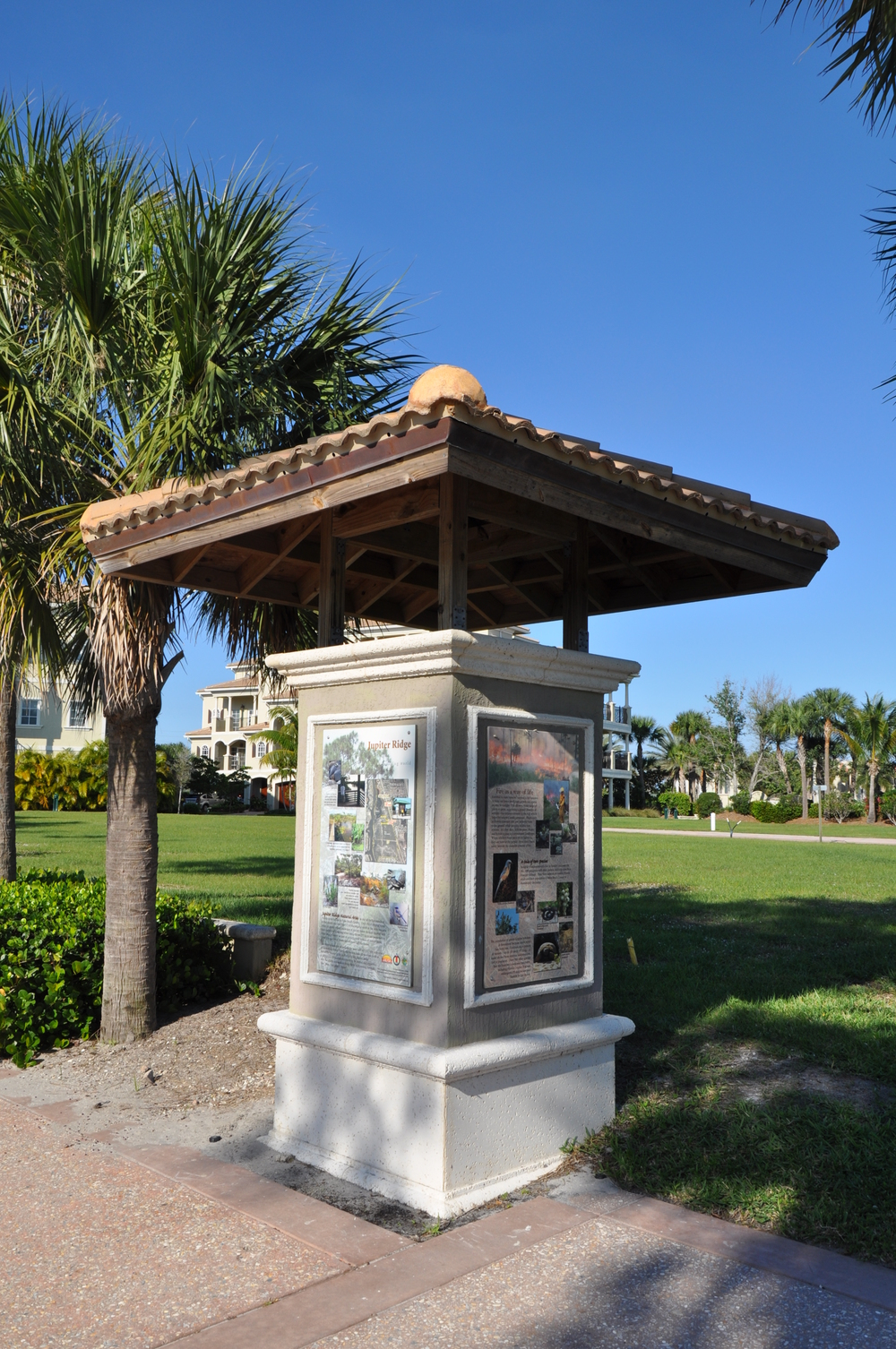 Tierra Del Sol Jupiter Florida Riverwalk Kiosk Interpretive Signage.JPG