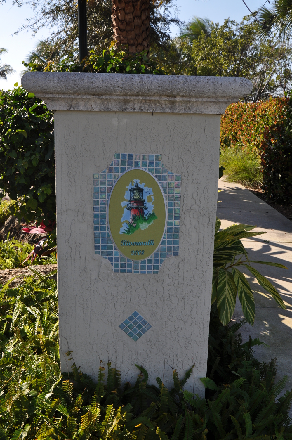 Jupiter Yacht Club Florida Riverwalk Gateway Jupiter Glass Mosaic Logo.JPG