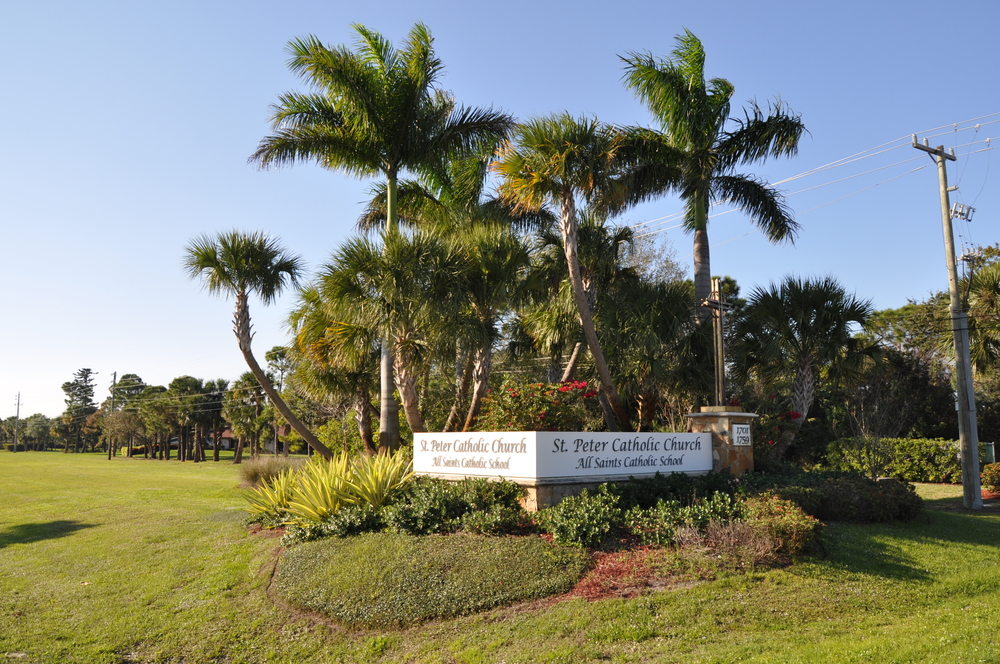 St. Peters Catholic Church Sign Jupiter Florida Entry Sign.JPG