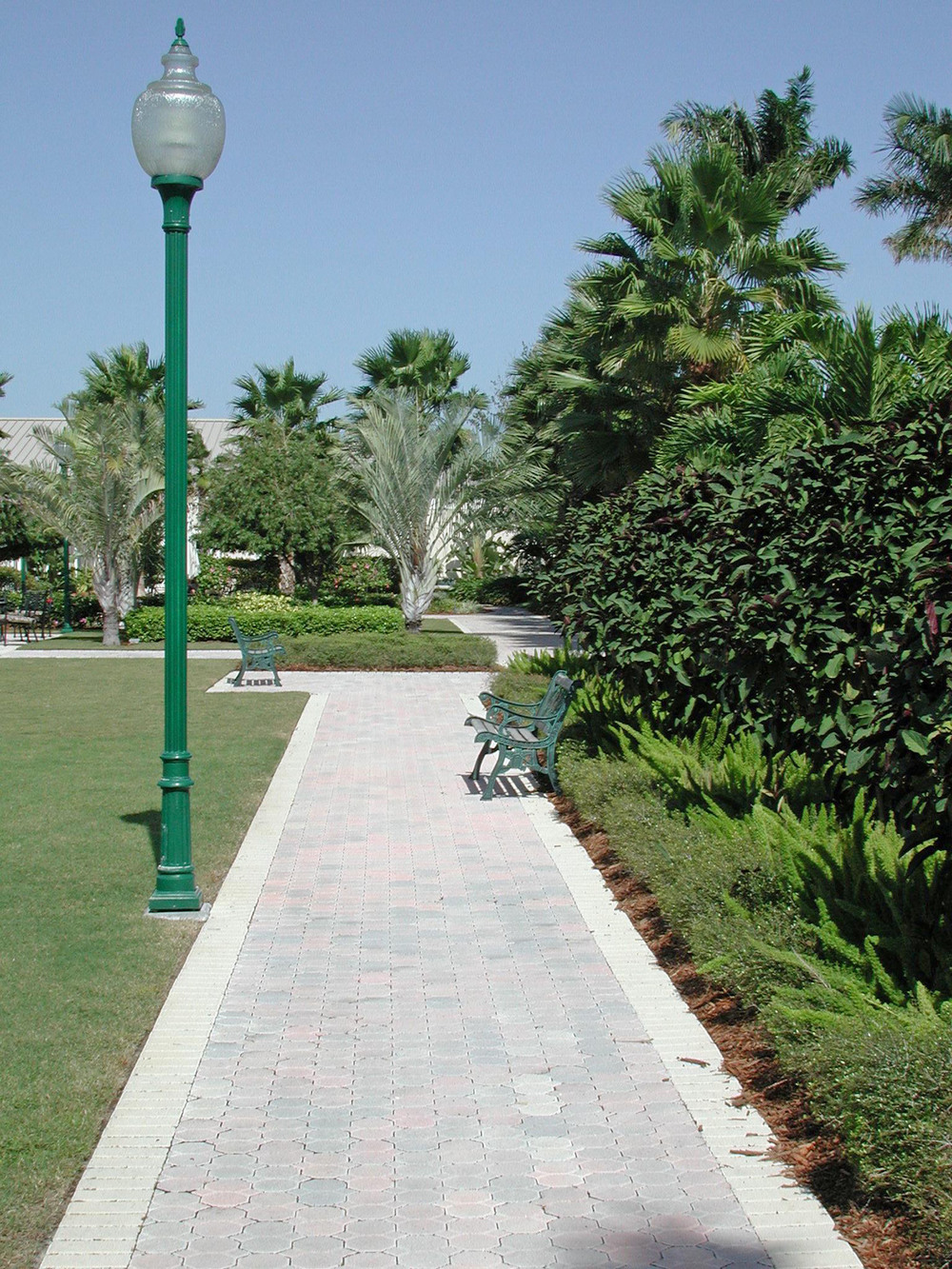 Paver walk and Bench at Christ Fellowship Church Landscaping PBG.jpg
