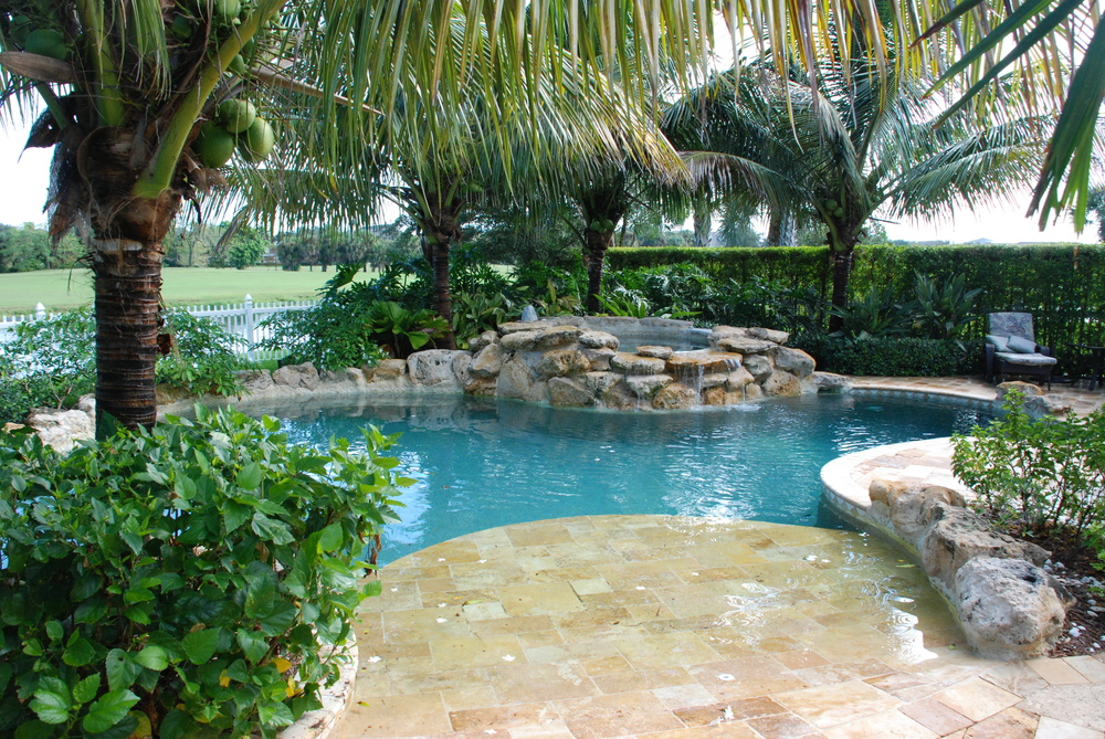 The Island at Abacoa Residence Pool Wet Entry Travertine Pavers.JPG