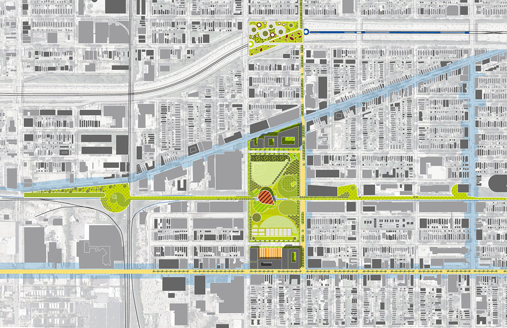 2014 - UIC / North Lawndale Presidential Library Site Bid