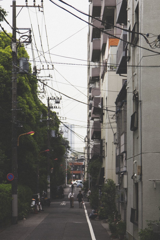 Walking towards the Tokyo Skytree