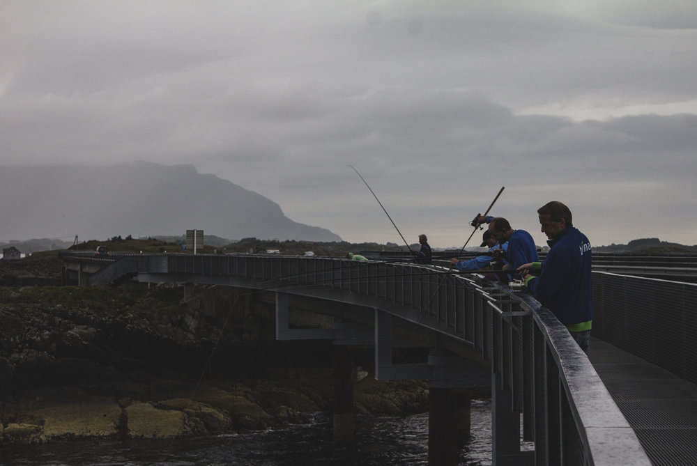 It also allows us a brief stop to walk along a pedestrian section added to a bridge by architect manthey kula which is located on a fishing spot, as such there was half a dozen or so locals fishing off the edge.