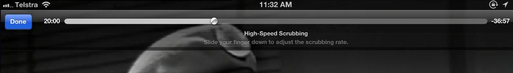 High speed scrubbing
