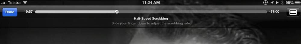 Half speed scrubbing