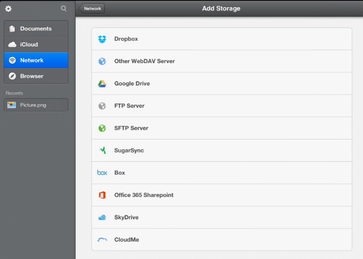 Readdle: Add storage locations