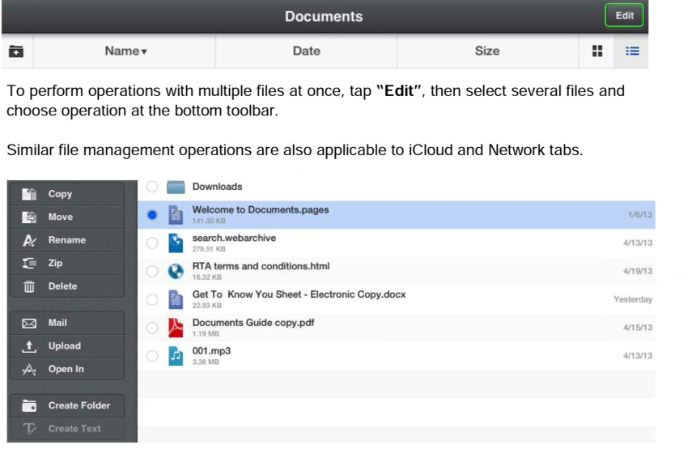 File management on Readdle
