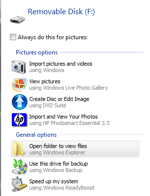 Look for your iPad as a portable device in windows Explorer