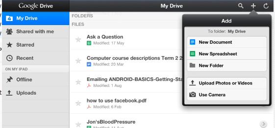 Google Drive - the iPad app