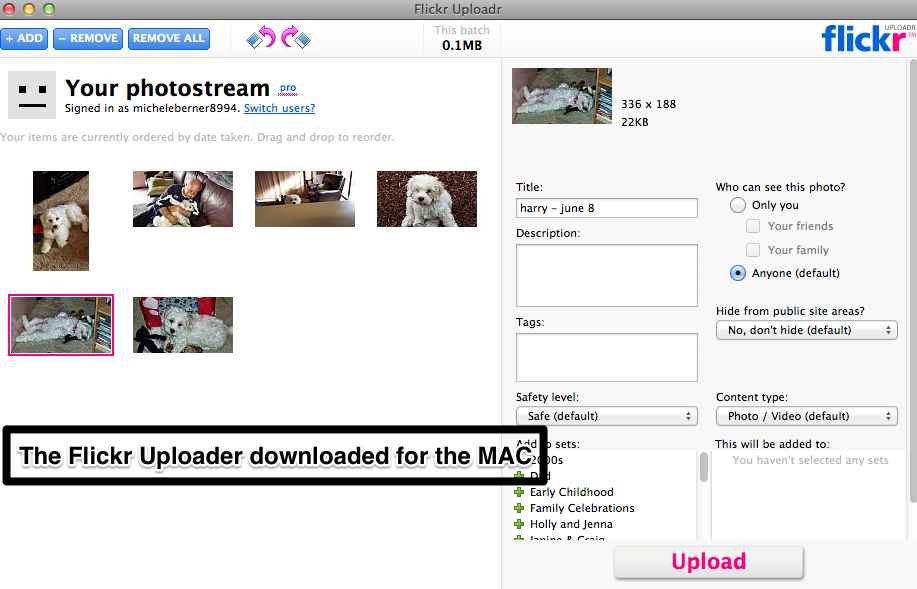 Flickr tools- Tools to upload your photos
