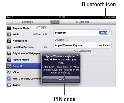 iPad - Bluetooth Settings