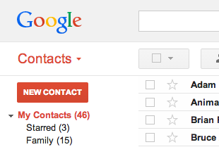 Add New Contacts into Google Contacts