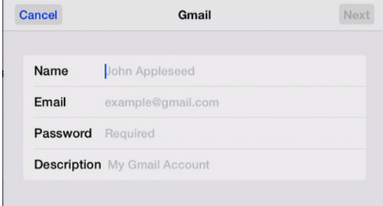 add gmail account to ipad