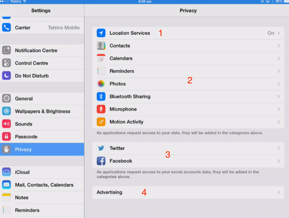 ipad privacy settings 1