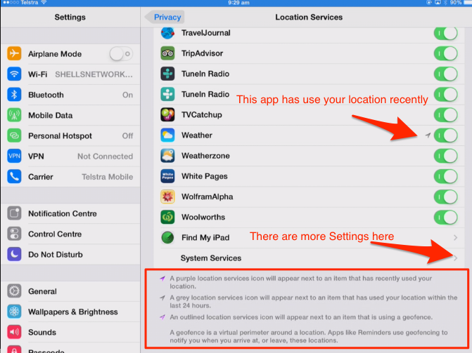ipad privacy settings 4