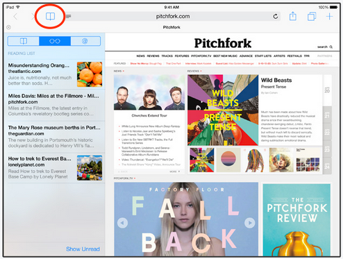 safari ios 8-sidebar