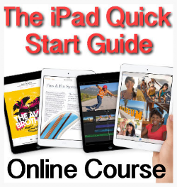 The iPad Quick Start Guide will give you the confidence and knowledge to get the most out of your iPad and be ready to move on to far greater iPad challenges.
