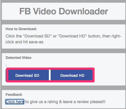 When a playing video has been located, you can download it.
