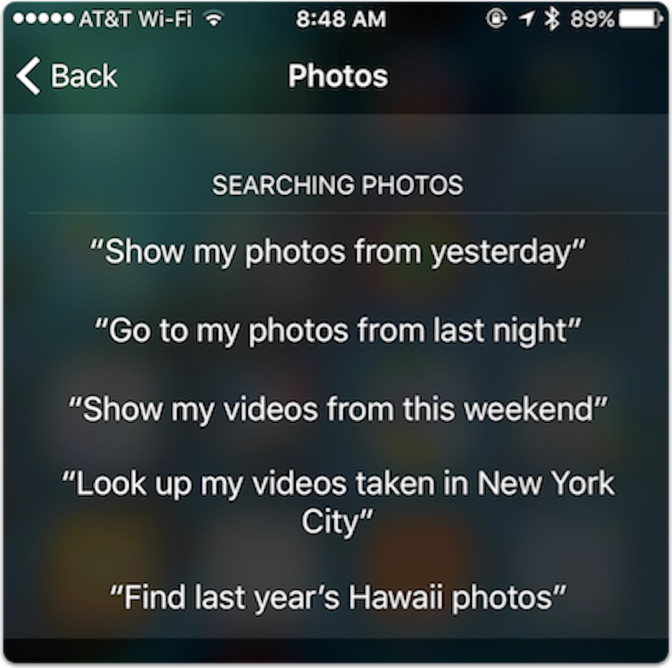 siri photos questions