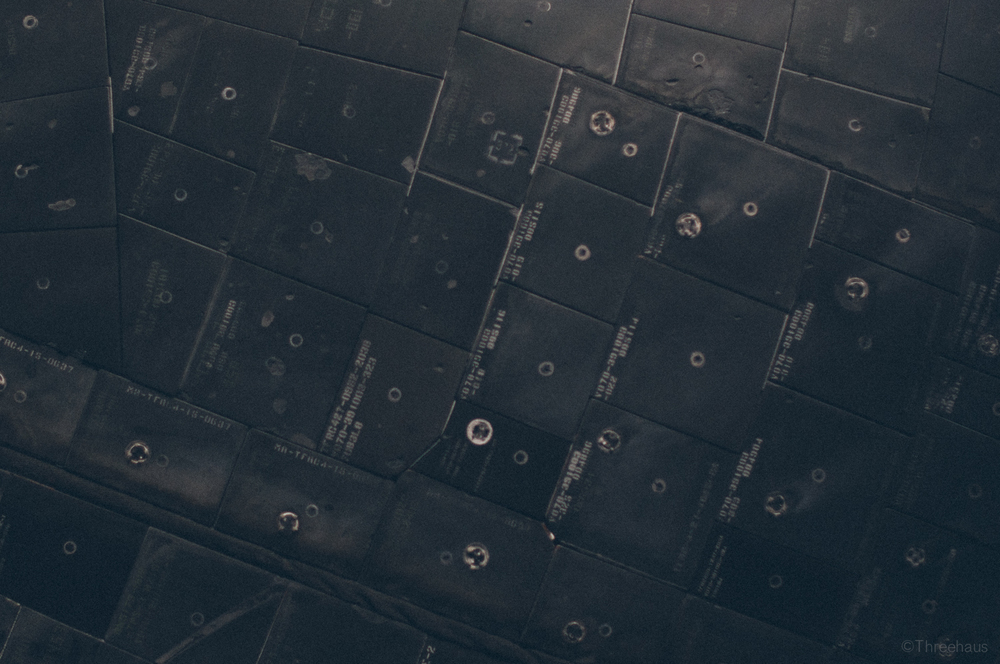 Space Shuttle Atlantis – detail. Tiles.