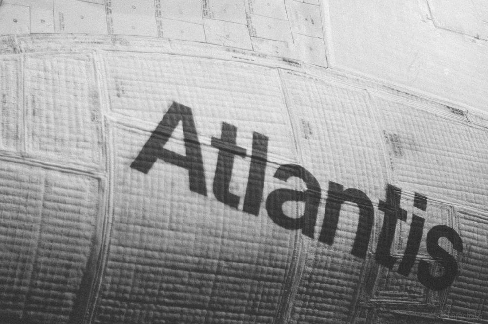 Space Shuttle Atlantis – detail. Helvetica.