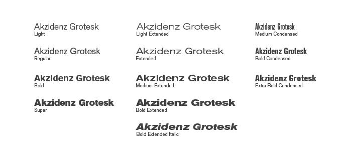 The Berthold Akzidenz Grotesk Type Family
