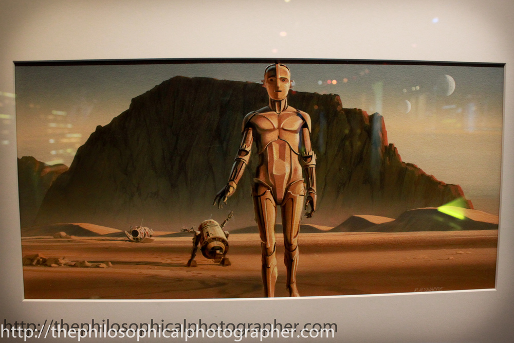 R2-D2 and C-3P0 Leave the Pod in the Desert