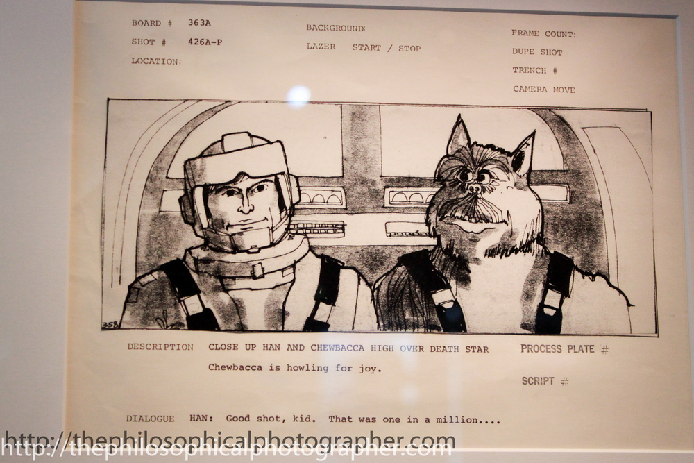Close up of Han Solo and Chewbacca High Over the Death Star