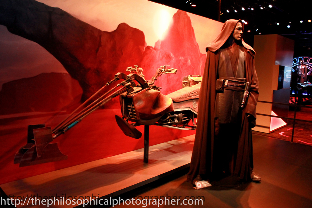 Anakin Skywalker with Owen Lars Swoop Bike