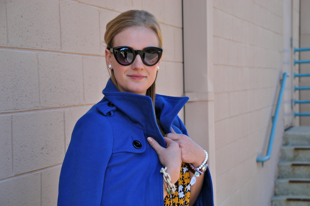 Coat: JCPenney | Shirt: Goodwill | Jeans: Seven | Shoes: Trend One | Jewelry:  Baublebar , Target, ModernEgo, gift | Glasses: Target