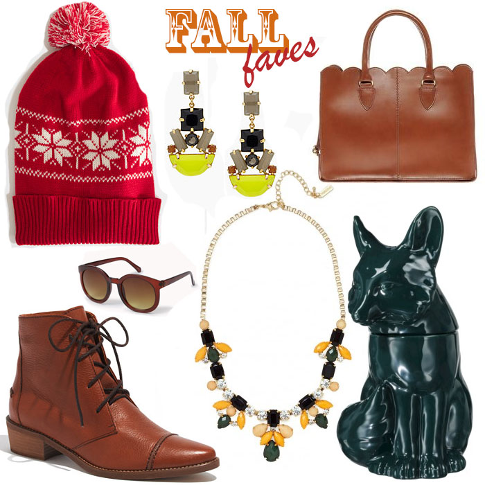 Hat:  J.Crew Factory  | Earrings:  Kate Spade  | Bag:  ASOS  | Cookie Jar:  Target  | Necklace:  Baublebar  | Boots:  Madewell  | Sunglasses:  Forever21