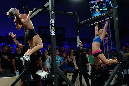 Talayna Fortunato   and   Camille Leblanc-Bazinet  ,   Workout 14.2 Announcement  , Miami.