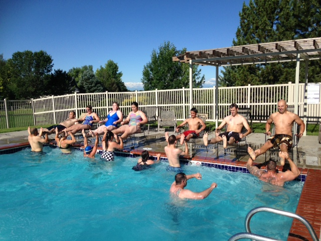 Super fun pool wod!  We'll do it again this month!