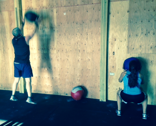 Jayde and Randy busting out all those wall balls!