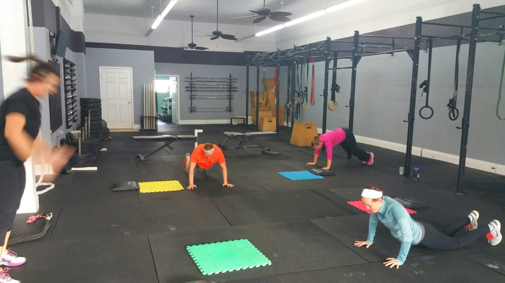 THe FIT class gets work done!!