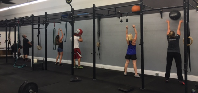 6:30 PM class getting through those 80 wall balls!