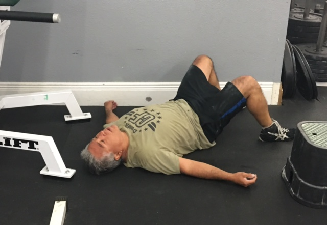 How Jeff felt after all those one arm snatches, pistols and toes to bar!
