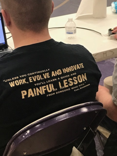 I saw this shirt at a wrestling tournament this last weekend and although it definitely applies to athletes in general, (especially wrestlers), I think it applies to life as well. Whether you're a student, a teacher, in business, in the military, a stay at home parent,whatever, strive to be the best version of yourself! Your people depend on you!