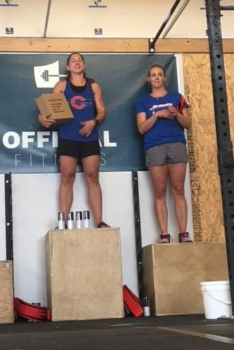 Kristin's first competition and came home with a 2nd place finish in the Women's Scaled! Awesome!