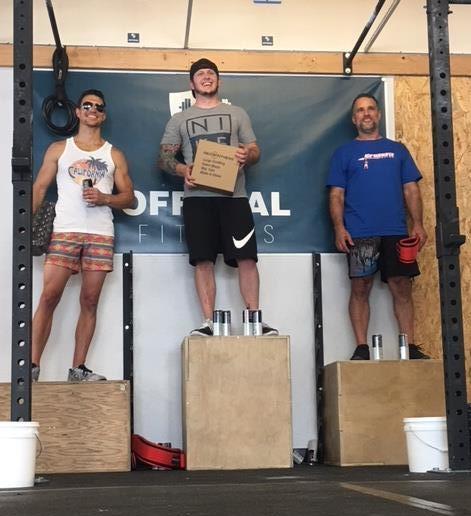 Matt took 2nd in Men's Scaled Division. Great job!!!