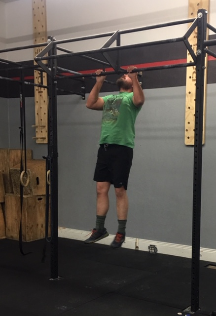 James uses his beard to his advantage in chin to bars!