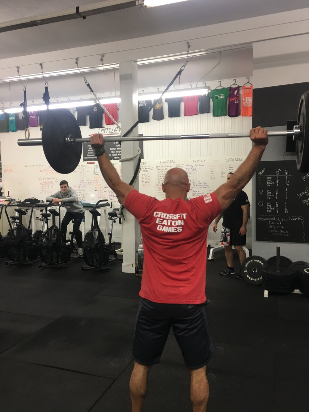 Join us tonight for the final wod and party to close out our CrossFit Eaton Games! Wear your team colors, team red and black bring food to share. It's been an awesome games season, let's close it out with some fun!