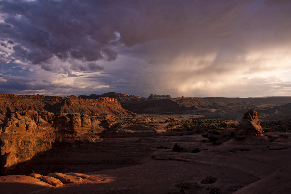 Sunset Storm From Delicate Arch